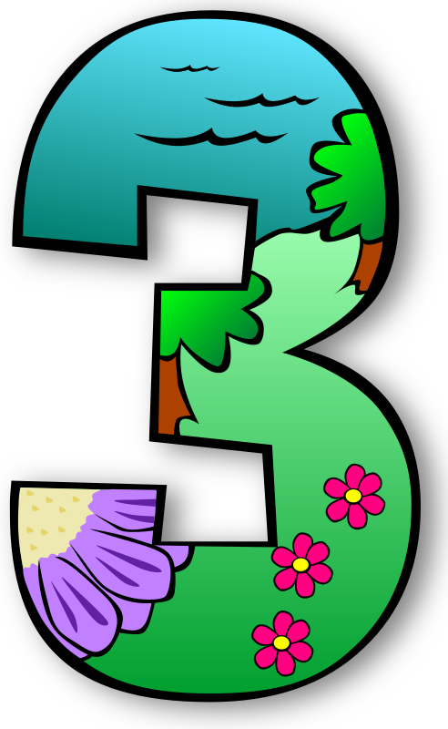 Number clipart individual number, Number individual number.