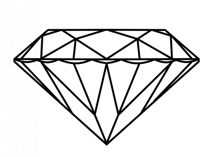 Diamond Ring Coloring Page.