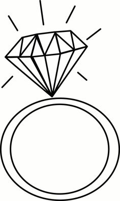 Diamond Engagement Ring Clipart 4.