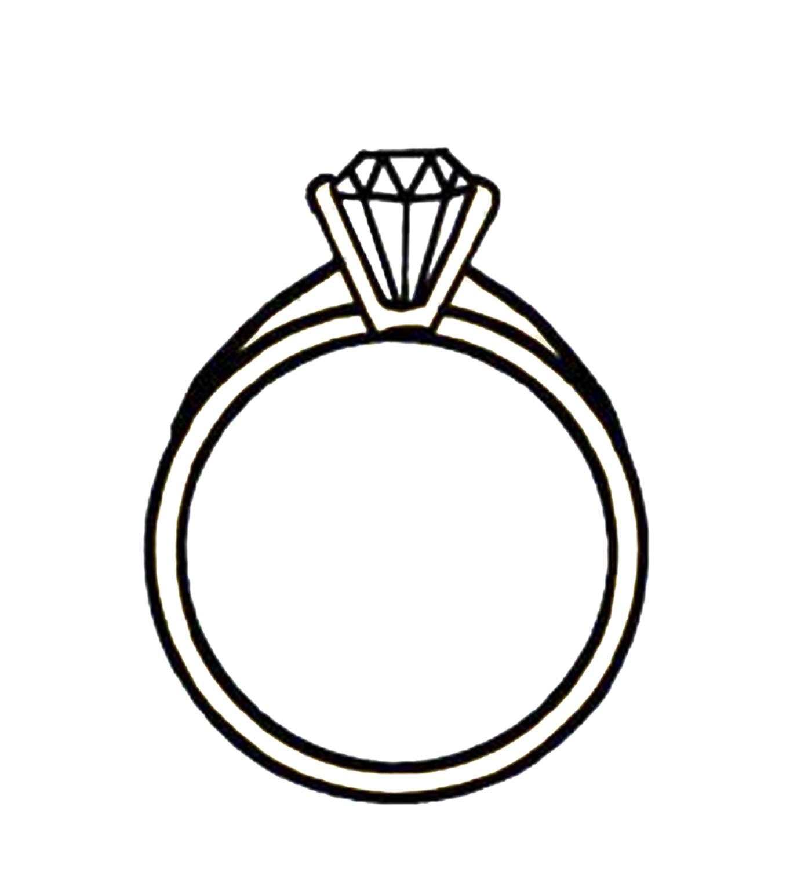 Diamond Engagement Rings Clip Art 5.