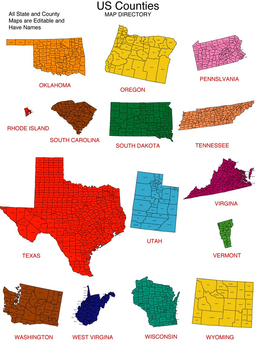 Us States Clipart.