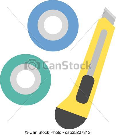 Vector Clip Art of School tools supplies assortment individually.
