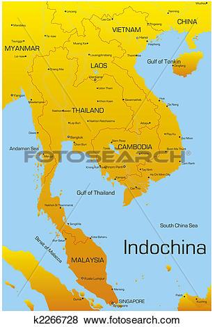 Clip Art of Indochina k2266728.