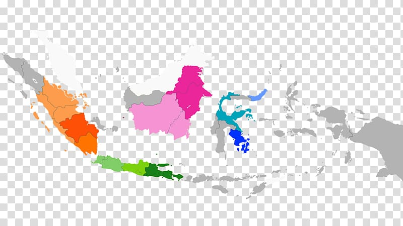 Indonesia Map, map transparent background PNG clipart.