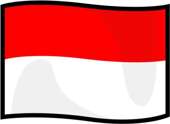 Indonesia Flag Clipart Waving.
