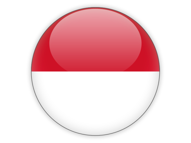 Round icon. Illustration of flag of Indonesia.
