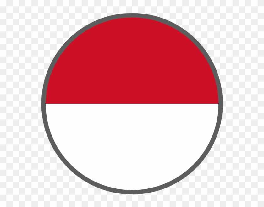 Indonesia Flag Circle Png.