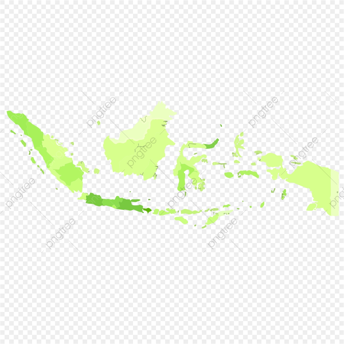 Map Indonesia, Png, Green, White PNG and Vector with Transparent.