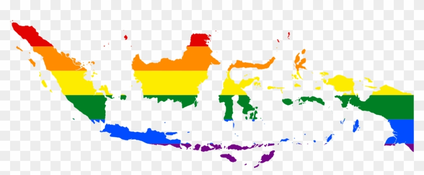 Lgbt Flag Map Of Indonesia.