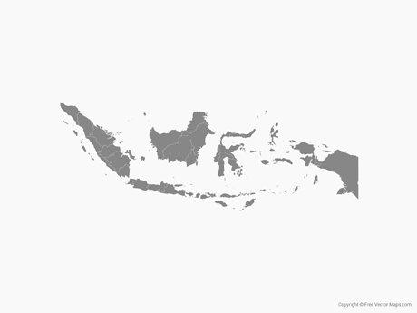 Vector Map of Indonesia with Provinces.