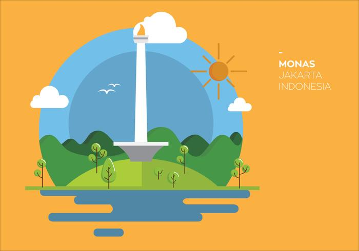 Monas Indonesia Vector.