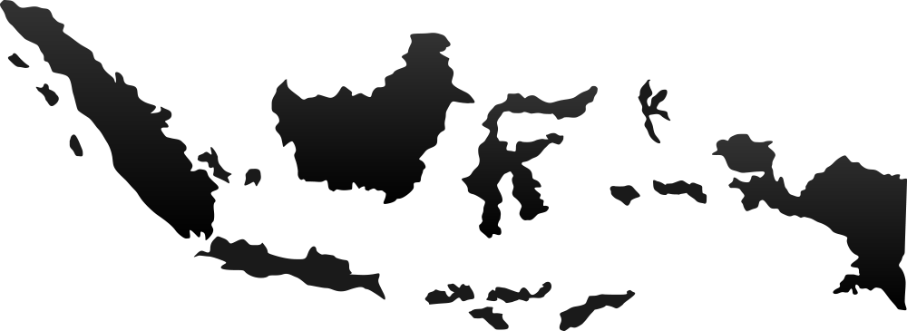 HD Blank Map Of Indonesia.