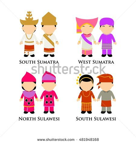 Indonesian National Dress Stock Photos, Royalty.
