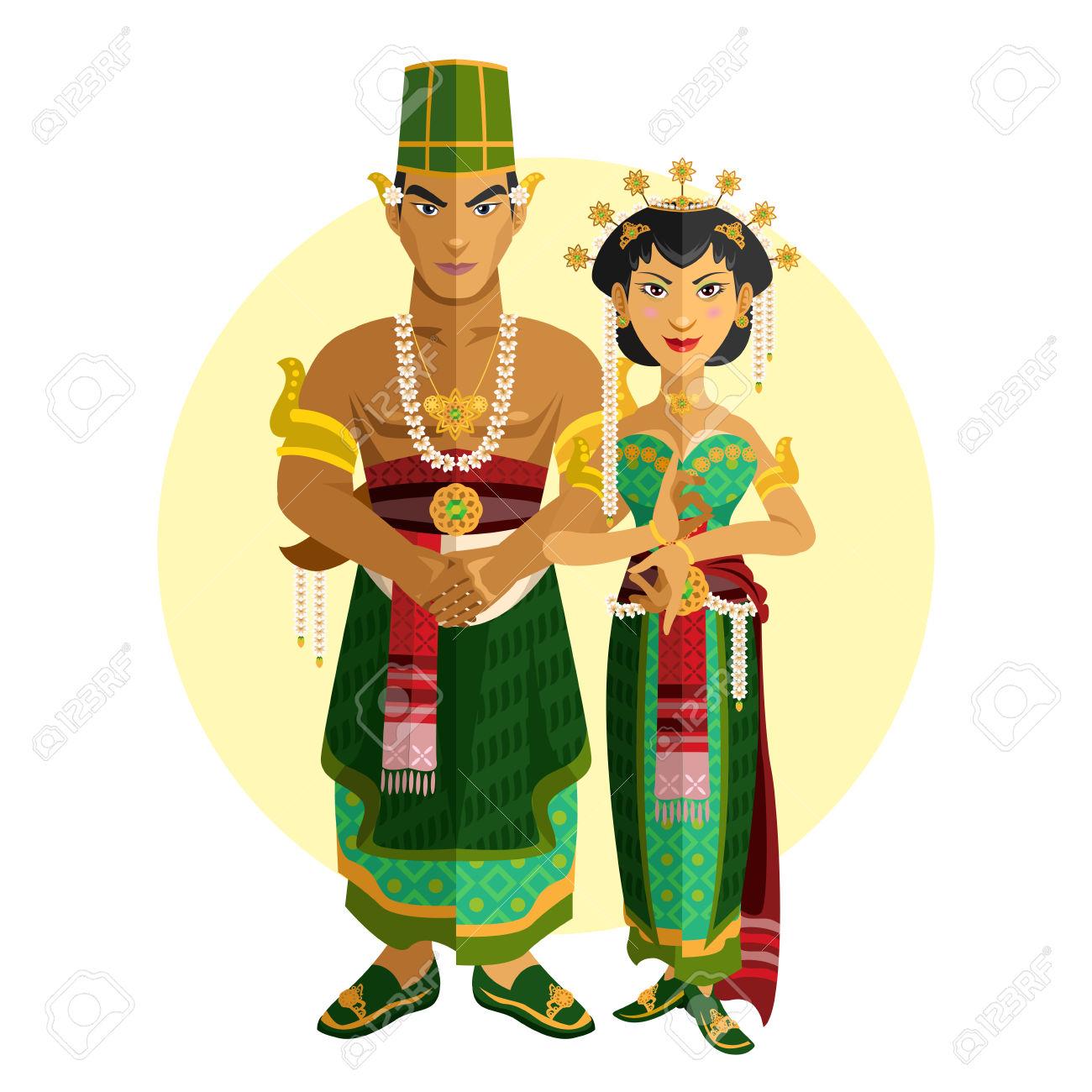 Indonesian Central Java Wedding Ceremony Illustration Of.