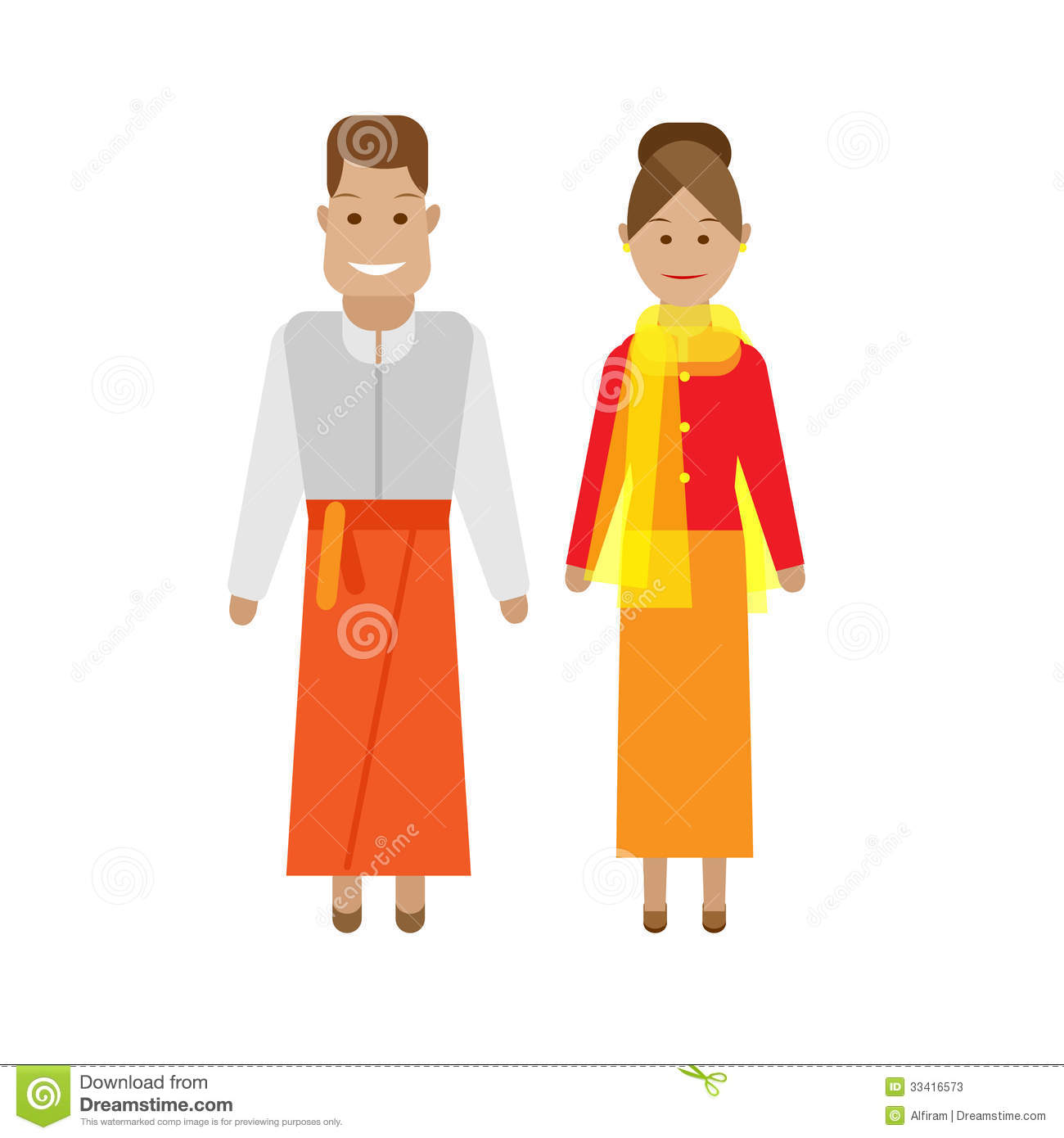 Indonesian National Dress Stock Photos.