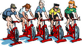 Indoor cycling animations and animated gifs..