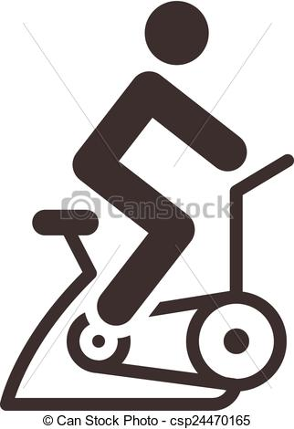Indoor Cycling Clipart.