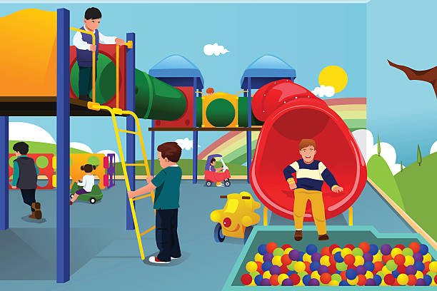Best Indoor Playground Illustrations, Royalty.