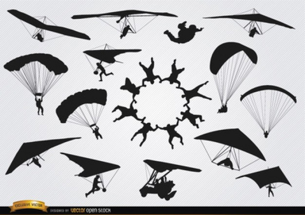 Skydiving Vectors, Photos and PSD files.