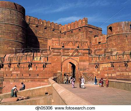 Stock Images of Red Fort of Indo.