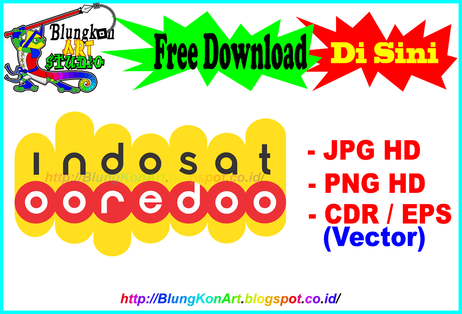 Logo Indosat Vector (Coreldraw .cdr ) eps jpg png Transparan HD.