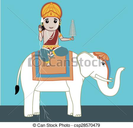 Vectors Illustration of Lord Indra.