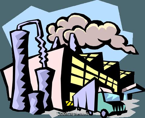 industry Royalty Free Vector Clip Art illustration.