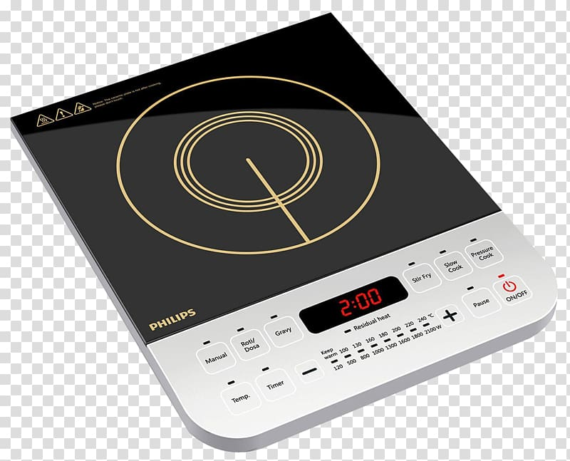 Black and white Philips induction cook.