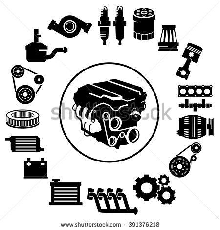 industrial alternator clipart
