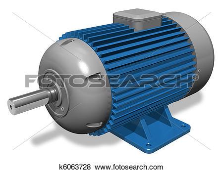 Stock Illustration of Industrial electric motor k6063728.
