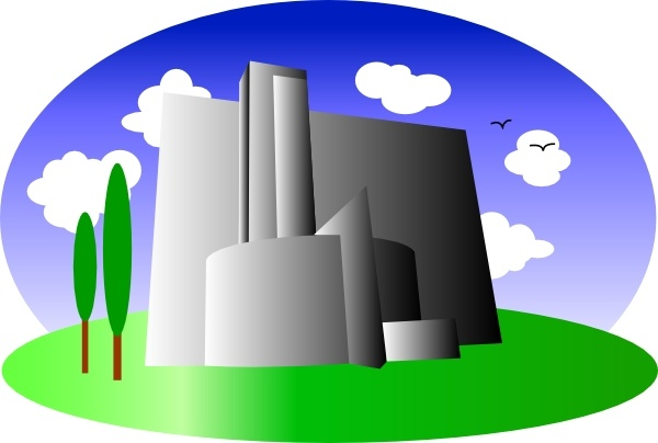 Industrial Building clip art Free vector in Open office drawing.