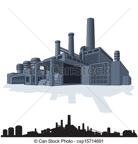 Industrial complex Vector Clip Art Illustrations. 236 Industrial.