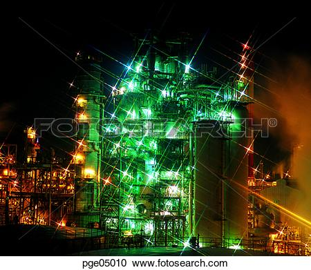 Stock Photography of industrial complex, industrial park.