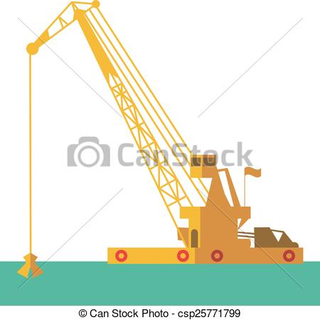 Industrial Crane Clip Art.