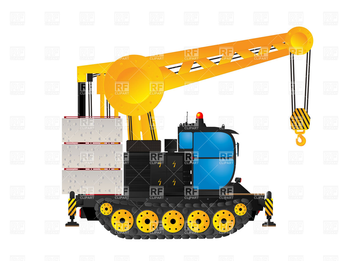 Industrial track crane Vector Image #6421.