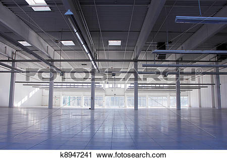 Stock Photography of empty industrial hall k8947241.