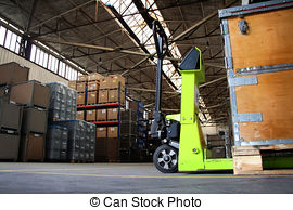 Stock Photography of empty industrial hall.