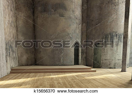 Stock Photography of Empty industrial hall k15656370.