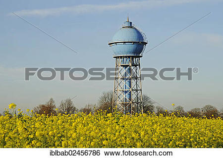 """Stock Images of """"Historic water tower, industrial monument."""