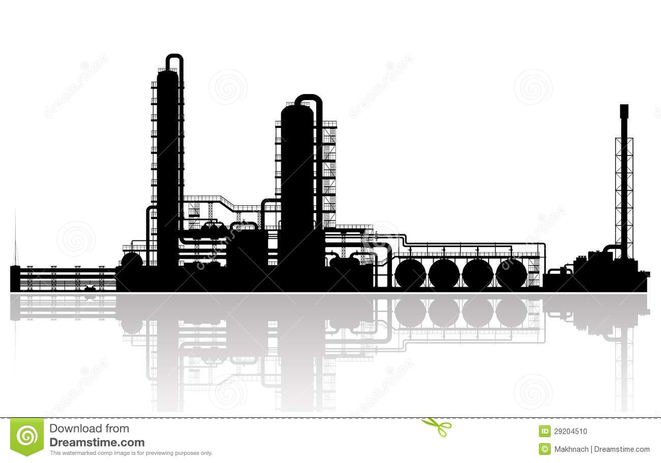 Industrial Plant Stock Illustrations.