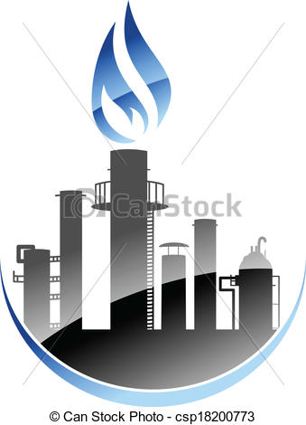 Vectors Illustration of Oil refinery or industrial plant.