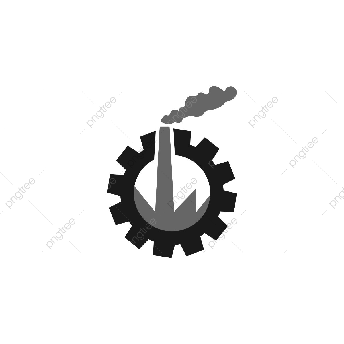Factory Industrial Logo Design Template Vector, Logo, Industrial.