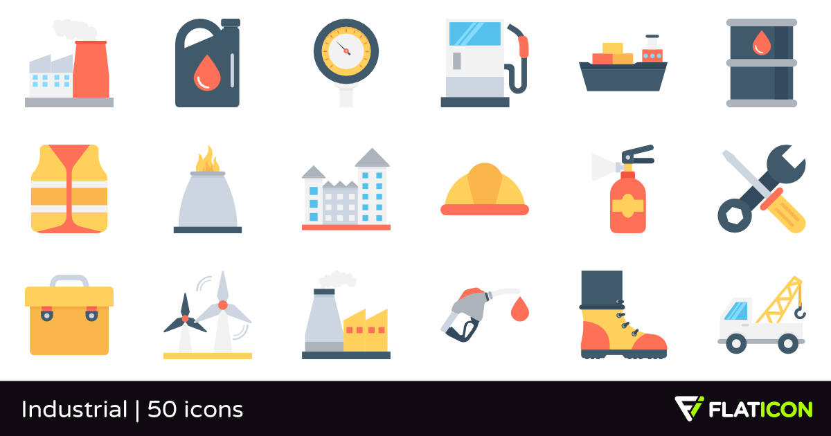 Industrial 50 free icons (SVG, EPS, PSD, PNG files).