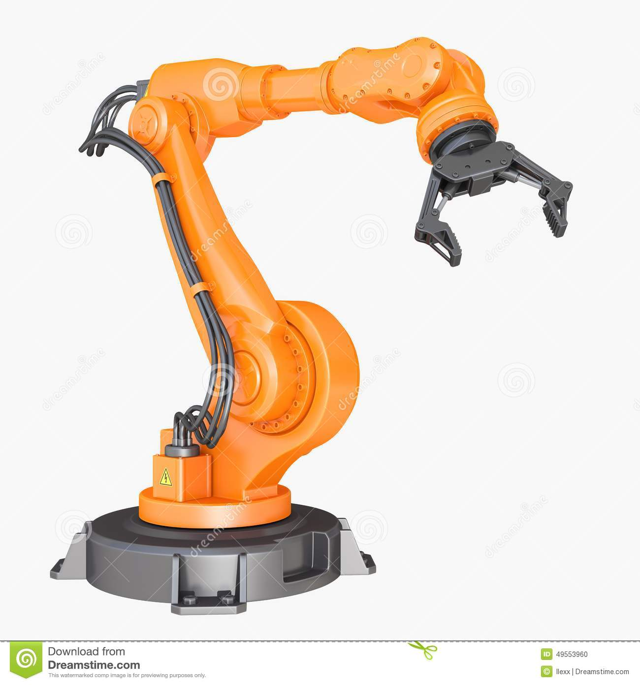 Industrial Robot Stock Illustration.