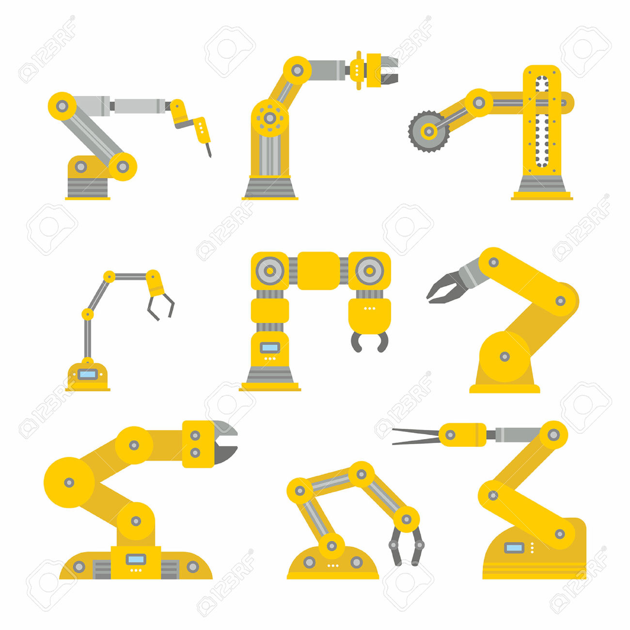5,512 Industrial Robot Stock Vector Illustration And Royalty Free.