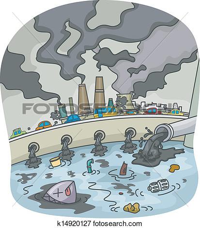Unclean environment clipart.