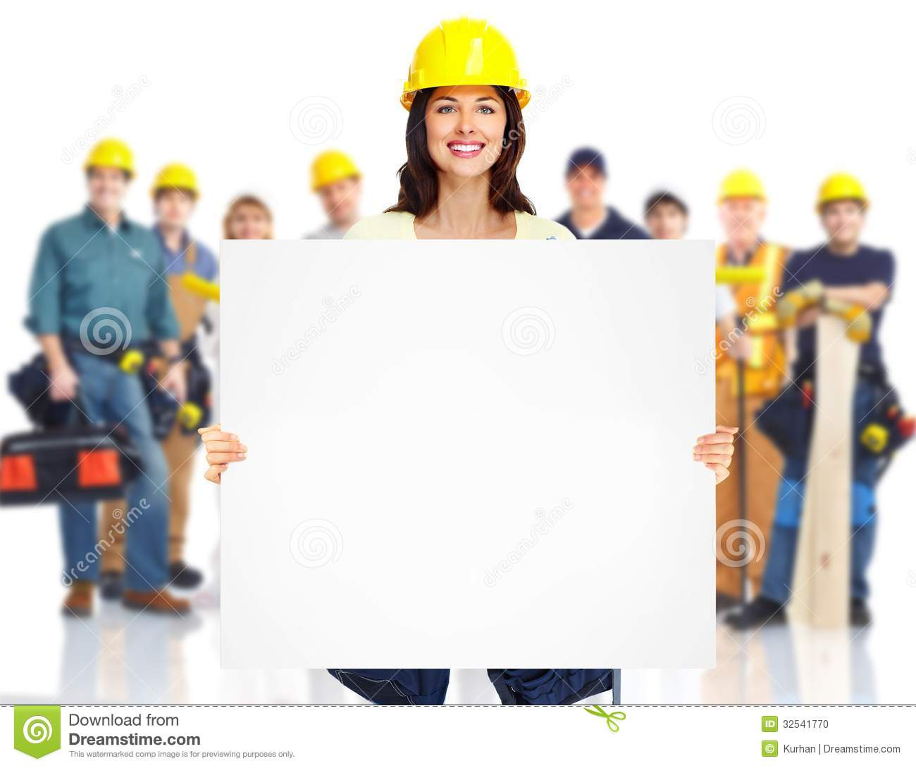 Group Of Workers Clipart.