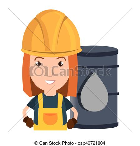 Vector Clipart of avatar industrial worker.