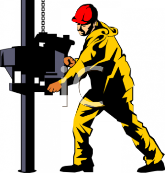 Industrial worker clipart.