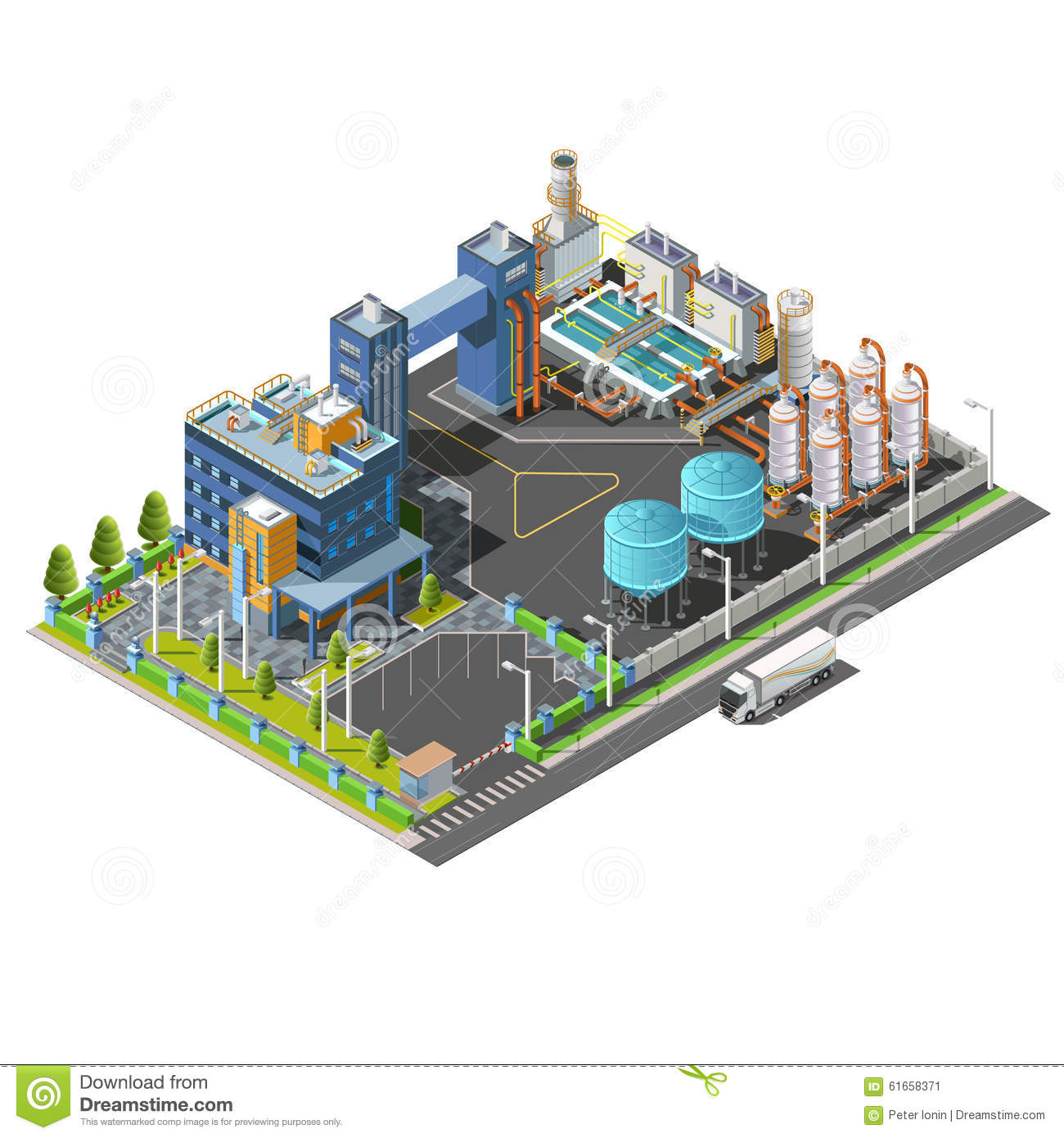 Industrial Area Concept Stock Vector.